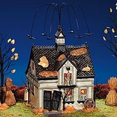 """Department 56: Products - """"Creepy Creek Carriage House"""" - View Lighted Buildings"""