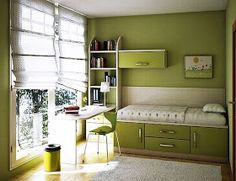 7 Teenage Girl Bedroom Ideas for Small Rooms Green Colors