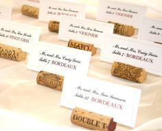 Love the idea of tables being wine varietals!