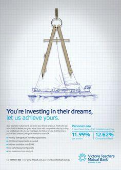 Compass, 10 Feet Tall, Victoria Teachers Mutual Bank, Print, Outdoor, Ads