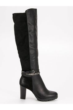 Čierne čižmy na platforme Heeled Boots, Platform, Heels, Sexy, Fashion, High Heel Boots, Fashion Styles, Boots, Shoes Heels