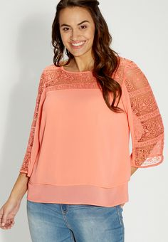 Plus Size Tiered Blouse