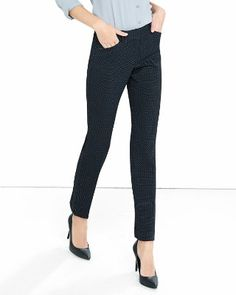 pin dot low rise editor ankle pant