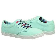 78a724e6f926 Athletics Vans Women s Atwood Lo Mint  Floral Lace FamousFootwear.com I ve  been
