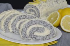 Maková roláda s citrónovým krémem | NejRecept.cz Hungarian Desserts, Hungarian Recipes, Poppy Cake, Eastern European Recipes, Cake Recipes, Dessert Recipes, Homemade Sweets, Czech Recipes, Different Cakes