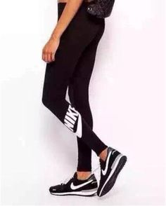 "2016 Trending Fashion ""Nike"" Letter Printed Leggings Cotton Slim Fit Sport Suit Fitness Sportswear Stretch Exercise Yoga Trousers Pants _ 2124"