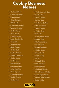 Find out exciting names for your cookie business and bakery business. You can also use cookie business name generator to generate exciting cookie business names. Creative Business Names List, Cake Business Names, Creative Names, Store Names Ideas, Shop Name Ideas, Cafe Names Ideas, Home Bakery Business, Baking Business, Bakery Business Cards