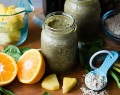 This tasty post-workout protein green smoothie is loaded with nutrients for muscle recovery and to replenish your body's energy stores. I SimpleGreenSmoothies.com