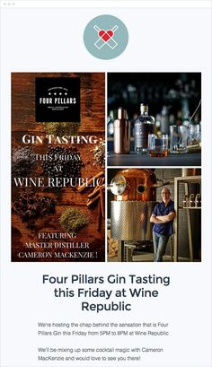 Four Pillars Gin Event Email