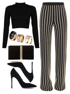 """""""Untitled #1168"""" by thelovelybry ❤ liked on Polyvore featuring Balmain, Gianvito Rossi, Roger Vivier and H&M"""
