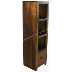 Features: • A contemporary slim bookcase in dark finish • Also available in…