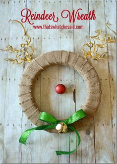 Reindeer Wreath! A simple and darling Christmas craft!