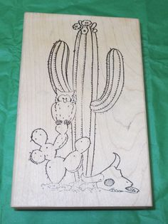 Copper Leaf Designs Cactus rubber stamp South west Owl Skull flowers scenic wood #CopperLeafCreations #SouthwestSouthwest