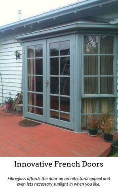 French Doors Incorp Garage Door Design
