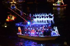 League City 52nd Annual Christmas Boat Lane Parade on Clear Lake December 13 2014