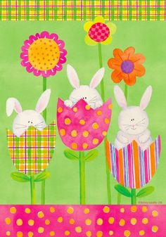 Easter painted burlap garden flag Pinteres
