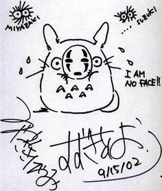 Another autograph by Hayao Miyazaki (and also Toshio Suzuki) http://oh-totoro.tumblr.com/post/34614677133/another-autograph-by-hayao-miyazaki-and-also