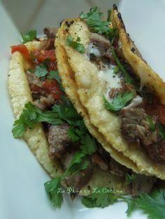 Tacos al Carbon-Carne Asada. New Blog Post.
