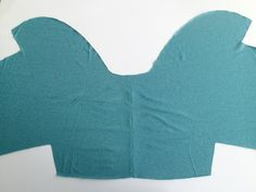 Free Simple Shrug Pattern.  Just one pattern piece - this is genius!
