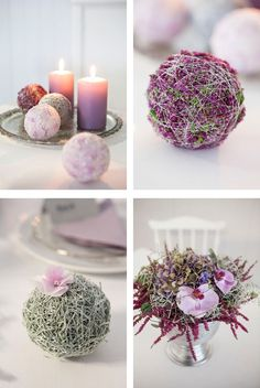 super Legend A table decoration in pink. Oasis decorated with moss, spiral thread, autumn heather and orchid super Legend A table decoration in pink. Oasis decorated with moss, spiral thread, autumn heather and orchid Deco Floral, Arte Floral, Floral Design, Decoration Table, Table Centerpieces, Flower Decorations, Christmas Decorations, Fleur Design, Flower Ball