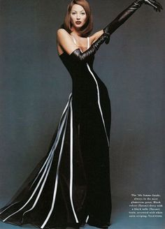 Christy Turlington in Valentino - Photo by Patrick Demarchelier for Harper's Bazaar US - October 1992