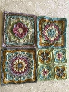 Free granny square pattern and tutorial. Very puffy granny square pattern. Crochet Squares Afghan, Crochet Quilt, Crochet Blocks, Granny Square Crochet Pattern, Afghan Crochet Patterns, Crochet Granny, Crochet Motif, Crochet Designs, Free Crochet