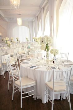Wedding decor at Belle Mer, Newport