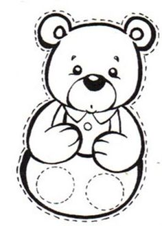 Outline Teddy Bear Coloring Page Cut Out Allentown Pa News