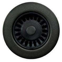 Houzer 3.5 in. Opening Strainer Matte Black - 190-9265
