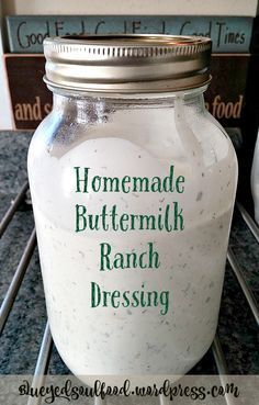 Homemade Buttermilk Ranch Dressing: This ranch dressing is so full of flavor. It& 100 times better than the bottled stuff you get at the store. It& so delicious, you& want to use it on everything! I& been told it& good enough to drink :) dressing recipes Buttermilk Ranch Dressing, Homemade Ranch Dressing, Outback Ranch Dressing, Best Ranch Dressing, Homemade Ranch Dip, Homemade Ranch Seasoning, Ranch Salad Dressing, Bbq Seasoning, Ranch Dressing