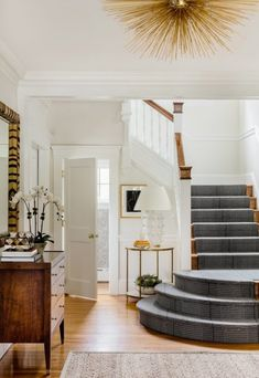An update on Hudson Interior Designs – All For Decoration Interior Stairs, Home Interior, Location Villa, Foyer Decorating, Up House, Carpet Stairs, Home And Living, Interior Inspiration, Decoration