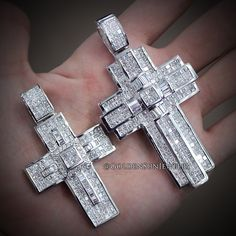 GOLDEN SUN JEWELRY: Invisible set diamond crosses. Looking for the perfect diamond pendant or want to have a custom one made? Email us at info@goldensunjewelry.com or call 248.559.6289. @goldensunjewelry #goldensunjewelry #cross #religious #religiousjewelry #pendant #detroit #designer #diamonds #diamondpendant #fashion #flawless #fashionista #gia #haute #jewelry #jewelrygame #jesus #jewelrymanufacture #kilogang #l4p #lavish #luxury #bling #bespoke #couture #certified #niketalk #invisibleset