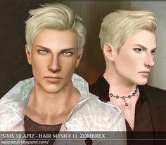 Lapiz's Scrapyard: [Sims3] Hair Mesh #13A, #15