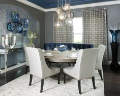 Modern Dining Room Colors absolutely love this navy blue color in our dining room. sherwin