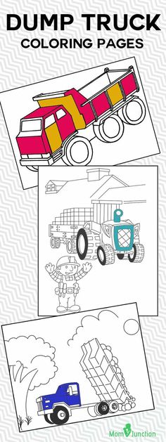 This Article Features Dump Trucks In Cartoon And Realistic Forms These Truck Coloring Sheets