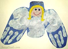 Make this handprint angel craft with your kids! Perfect christmas art project to make for the holidays. Christmas Cards Handmade Kids, Christmas Handprint Crafts, Christmas Art Projects, Christmas Bible, Childrens Christmas, Preschool Christmas, Christmas Activities, Christmas Ornament, Christmas Ideas