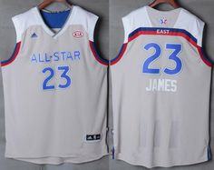 e61461aacacd Men s Eastern Conference Cleveland Cavaliers  23 LeBron James adidas Gray all  star jerseys 2017 Eastern