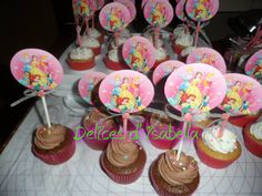 cupcakes princesas..dulzura hecha pastel