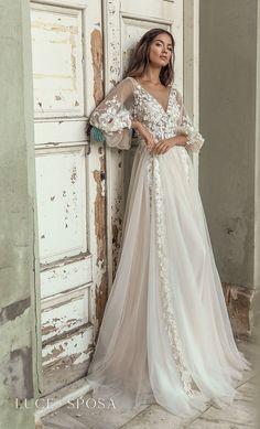Boho Wedding Dress, Dream Wedding Dresses, Boho Dress, Bridal Dresses, Wedding Gowns, A Line Wedding Dress With Sleeves, Ball Dresses, Ball Gowns, Summer Dresses