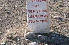 Paste Eater's Grave in Goldfield Nevada
