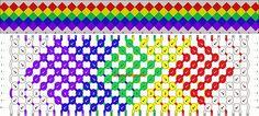 Normal Friendship Bracelet Pattern #768 - BraceletBook.com