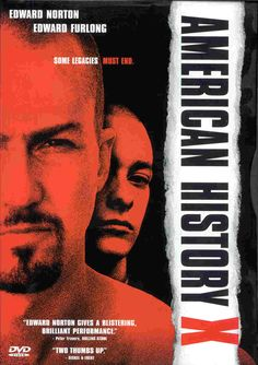 American History X is a 1998 American drama film directed by Tony Kaye and starring Edward Norton and Edward Furlong. It was distributed by New Line Cinema. X Movies, Movies To Watch, Good Movies, Movies Online, Movies And Tv Shows, Movies Free, American History X, Edward Furlong, Edward Norton