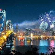 Bay area fireworks. ...