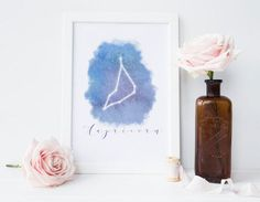 Capricorn constellation print, Capricorn gifts, gift for her, astrology gifts, night sky art,zodiac print,INSTANT DOWNLOAD