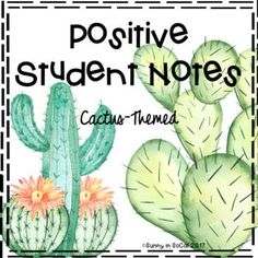 Positive Notes Home to Parents ~ Cactus-Themed Classroom Management Positive Behavior Notes for Students Cactus-Themed - Classroom Design, Future Classroom, Classroom Themes, Classroom Organization, Classroom Management, Classroom Incentives, Classroom Board, Behavior Management, Pbis School