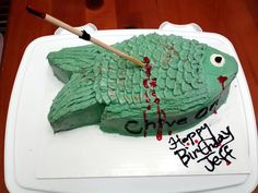 Bowfish Cake good idea for my son's bday coming up!!!!