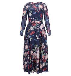 Midnight Floral Dress