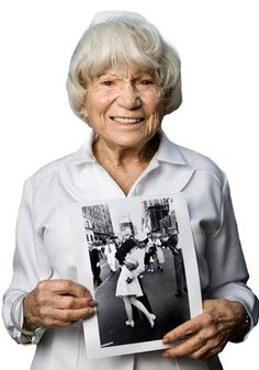 Edith Shain passed away this past Sunday at the age of 93. I was the last photographer to photograph Edith for my book. She truly was the sweetest and most vivacious lady I have ever met.  The photo of the sailor kissing Edith is one of the most famous images of WWII, if not American history. | Tom Sanders Photography