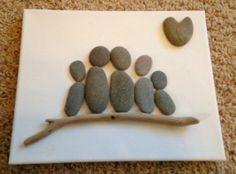 Kreativ mit steinen