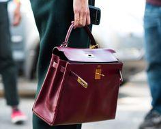 Vintage burgundy Hermès Kelly bag